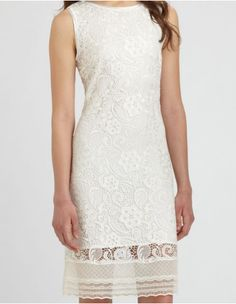 White lace Elie Tahari dress #whitedress