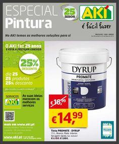 Especial Pintura: no AKI temos as melhores soluções para si. 30 de Abril a 25 de Maio