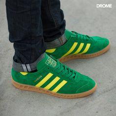 adidas Originals Hamburg: Green/Yellow