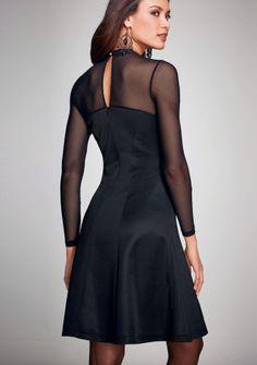 Šaty s polotransparentnými vsadkami #ModinoSK Evening Dresses, Feminine, Neckline, Elegant, Long Sleeve, Sleeves, Semi Transparent, Fashion, Vestidos