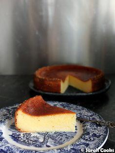 Sarah Cooks: Squacquerone Cheesecake Lemon Filling, Lemon Slice, Lemon Recipes, Melted Cheese, Condensed Milk, Cheesecake Recipes, Recipe Using, Tray Bakes, Yummy Cakes