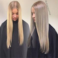 In love with #wellainnosense ! equal parts 10/88+0/0+1/8 @olaplexnorge +pastel developer for 15 minutes. #wella #wellahair #oribe #olaplex #hairbesties