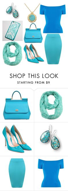 Turquoise Outfit by retailite on Polyvore featuring Karen Millen, WearAll, Gianvito Rossi, Dolce&Gabbana, Ippolita and ModestlyChic Apparel