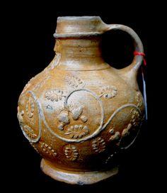Important Circa 1540 German stoneware Bellarmine Jug (bartmann krug)! #SW4233 For Sale | Antiques.com | Classifieds