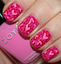 The Girlie Tomboy: Love Leopard Heart Nail Art