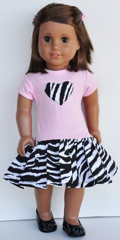 American Girl Clothes  Zebra Print Pink by LoriLizGirlsandDolls, $24.00