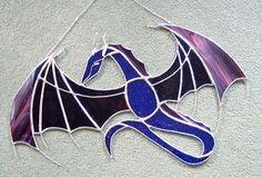 Large-fantasy-Dragon-stained-glass-suncatcher-fantasy-window-decoration-Merlin