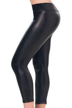 $20 Metallic Black Leggings 1011 Espiral