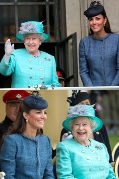 Kate Middleton and Queen Elizabeth - too cute together!