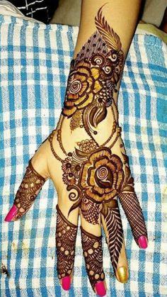 Pakistani Henna Designs, Arabic Henna Designs, Dulhan Mehndi Designs, Mehndi Art Designs, Mehndi Designs For Hands, Henna Mehndi, Henna Art, Latest Henna Designs, Stylish Mehndi Designs