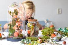 Autumn in a glass Diys, Things To Do, Interior Decorating, Seasons, Autumn, Table Decorations, Creative, Instagram Posts, Crafts