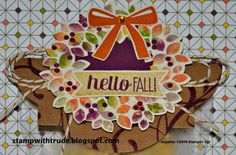 Stampin' Up! Wonderous Wreath stamp set fall treat bag topper by Trude Thoman http://stampwithtrude.blogspot.com