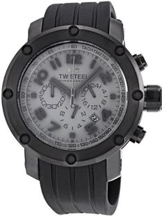 Women's Wrist Watches - TW Steel Mens TW128 Grandeur Tech Black Rubber Chronograph Dial Watch ** To view further for this item, visit the image link. (This is an Amazon affiliate link)