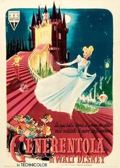 Manifesto Cenerentola 2 fogli (100x140) prima edizione 1950