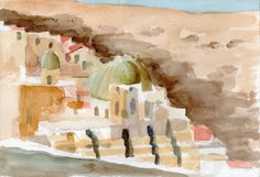 Mar Saba 01 2014 watercolour on paper 26 x 18 cm Watercolour, Paper, Painting, Art, Palestine, Pen And Wash, Art Background, Watercolor Painting, Watercolor