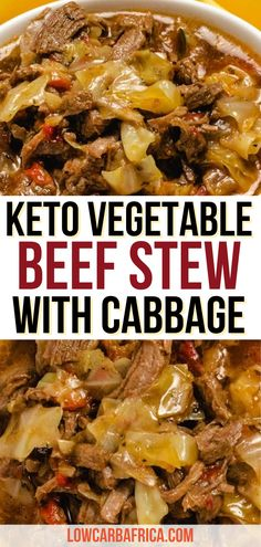 Cubed Beef Recipes, Keto Crockpot Recipes, Healthy Recipes, Low Carb Dinner Recipes, Keto Dinner, Cabbage And Beef, Cube Recipe, Low Carb Vegetables, Hearty Meal