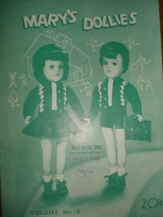 1940's MARY'S DOLLIES 7  Knitting Crochet by PastPossessionsOnly