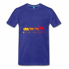 Wild Nature - Maglietta Premium da uomo Mens Tops, T Shirt, Fashion, Supreme T Shirt, Moda, Tee, Fashion Styles, T Shirts, Fasion