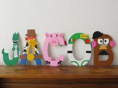 Toy Story Letter Art.. A buzz and woody themed J.R