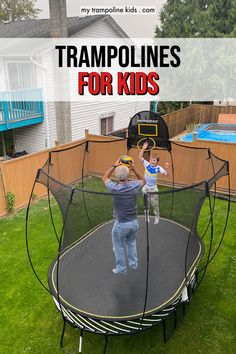 Looking for the best trampoline for kids? Wondering which trampoline you should choose for your backyard? This Guide to Choosing from the many trampolines for sale will give you everything you need to know | Backyard Trampoline | Kids Trampoline Outdoor | Trampoline Ideas | Trampoline Replacement | #backyard #trampoline #kids Fun Trampoline Games, Toddler Trampoline, Trampoline Springs, Outdoor Trampoline, Trampoline Workout, Water Slide Bounce House, Trampoline Reviews, Trampolines For Sale