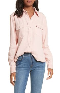 This denim shirt gets its at-ease stance from the loose-fit silhouette cut from an exceptionally soft, drapey fabric.