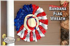 Make a Bandana Flag Wreath (So Easy!)