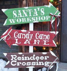Santa's Village DIY Outdoor Sign |You need this piece of outdoor Christmas decor!