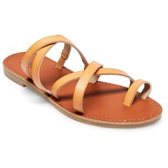 Women's Lina Slide Sandals - Mossimo Supply Co. Tan 7.5