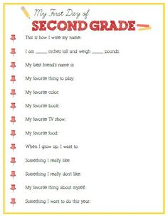 First Day of Second Grade Interview – Click image or link below to download