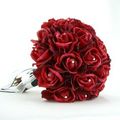 Real Touch Red Rose Swarovski