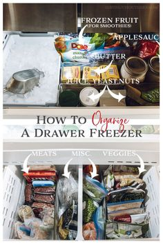 How To Organize A Drawer Freezer | Serving Up Southern