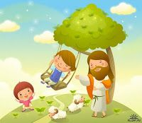 Imagens Fofas - Jesus e as Crianças Christian Cartoons, Jesus Cartoon, Resurrection Day, Bible Illustrations, Lord Is My Shepherd, Sunday School Crafts, Bible For Kids, Jesus Is Lord, Bible Stories
