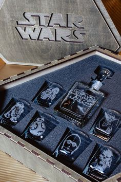 Star Wars Star Wars Gift Star Wars Whiskey Decanter Set Whiskey Glasses Star Wars Decanter Personalized Whiskey Glasses Star Wars - Star Wars Men - Ideas of Star Wars Men - Star Wars Star Wars Gift Star Wars Whiskey Decanter Set Birthday Gifts For Husband, Birthday For Him, Star Wars Birthday, Gifts For Dad, Gifts For Nerds, Happy Birthday, Star Wars Room, Star Wars Decor, Gifts For Boyfriend Long Distance