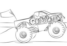 Creative Photo of Monster Truck Coloring Pages . Monster Truck Coloring Pages Grinder Monster Truck Coloring Page Free Printable Pages New To Monster Truck Coloring Pages, Cars Coloring Pages, Online Coloring Pages, Animal Coloring Pages, Coloring Pages To Print, Free Printable Coloring Pages, Coloring Pages For Kids, Coloring Books, Coloring Sheets