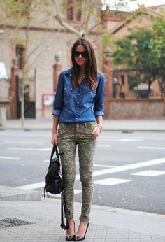 Camo Jeans for Women, Where the Sidewalk Begins: Fashion