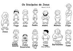 Desenhos Para Colorir E Pintar Os 12 Discipulos De Jesus