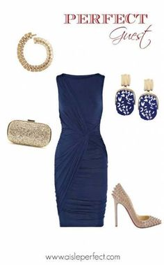 Navy Blue Dress Outfit Ideas Picture blue wedding guest outfit inspiration maybe this could be Navy Blue Dress Outfit Ideas. Here is Navy Blue Dress Outfit Ideas Picture for you. Navy Blue Dress Outfit Ideas i have a dress like this and i absolu. September Wedding Guest Outfits, Blue Wedding Guest Outfits, Cute Wedding Outfits, Wedding Guest Outfit Inspiration, Wedding Guest Style, Trendy Wedding, Fall Wedding, Wedding Blue, Wedding Night