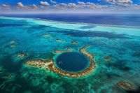 Starting November Tropic Air will be offering air tours of the great Blue Hole in Belize. The Blue Hole is an amazing attraction in Belize. Belize Vacations, Belize Travel, Honeymoon Destinations, Belize Tourism, Belize Barrier Reef, Belize City, Central America, South America, Capital Des Pays