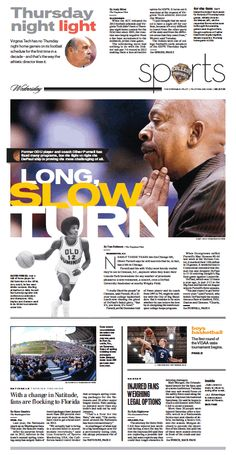 I love everything about the centerpiece module. Sports cover, Feb. 27, 2013.