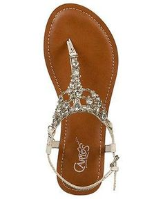 #Carlos by Carlos Santana Shoes, Flora Flat Sandals - Sandals - Shoes - Macy's These shoes would b perfect for a beach wedding!