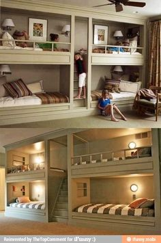 cool bunkbed idea for a kids room