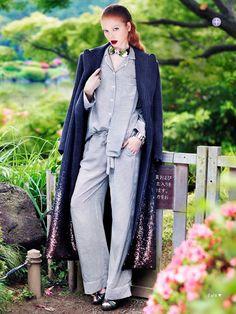 ANDROGYNE PYJAMAS soft focus: varvara by troyt coburn for marie claire australia september 2013