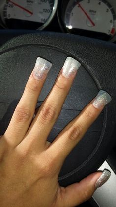 All #glitter #widetip #ducktip #clear #acrylicnails #toomuchgoodstuff #nailaddiction