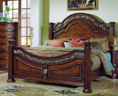 Wynwood Granada Queen Mansion Bed in Cordillera Pine | new house ...