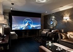 Specially built home cinema in the Concept Interiors showroom in Weybridge, Surrey