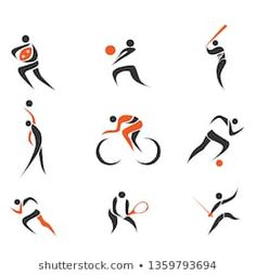 Imágenes similares, fotos y vectores de stock sobre fitness elements and logos; 119469805 | Shutterstock Web Design, Logo Design, Graphic Design, Logo Inspiration, Stick Figure Drawing, Medical Logo, Doodle Patterns, Stick Figures, Sports Logo