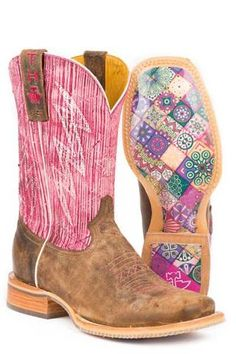 474533517b9 Women s Boots Tan Tin Haul Light   Bright Boots With Mosaic Sole. Urban  Western Wear