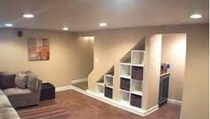 Small Basement Remodeling Ideas - Bing Images. Love the extra storage idea