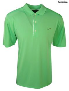 2246209dfa90 With contrasting piping and 3 button placket this mens shark chest logo  golf polo shirt by Greg Norman will offer you the style and comfort you  need on the ...