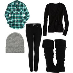 Winter clothes... must have (: especailly the beanie! Could live without the boots tho